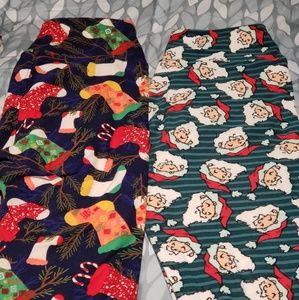 OS Christmas Leggings